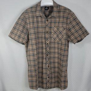 O'Neill mens short sleeve button down shirt sz XXL